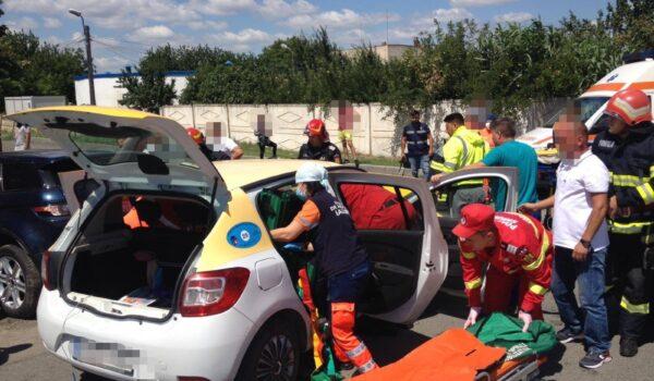 Accident rutier pe strada Călărași din municipiul Fetești